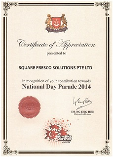 Square Fresco   Mobile Apps Developer Singapore   Mobile Apps      Certificate of Appreciation DR Ng Eng Hen   Minister of Defence Singapore